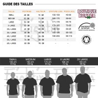 Guide des tailles T-shirt Hunter x Hunter