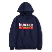 Sweat capuche logo Hunter x Hunter bleu marine