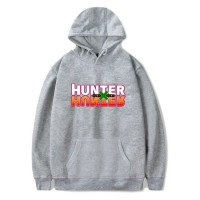 Sweat capuche logo Hunter x Hunter gris chiné