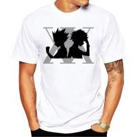 T-shirt du logo gris des Hunters avec Gon et Kirua